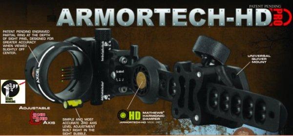 Axcel - ARMOR TECH HD PRO  6 Zoll - 5 PIN -.019 / Schwarz