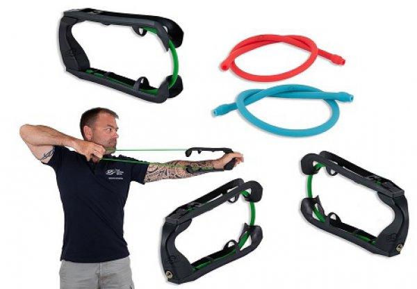 Pedago - Training WARM UP TOOLS Grip Trainer - mit 3 Elastik-Bänder Soft / Medium und Hard