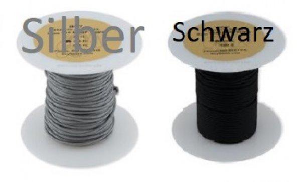 BCY D-Loop ROPE 2mm (#24) Silber und Schwarz - 15